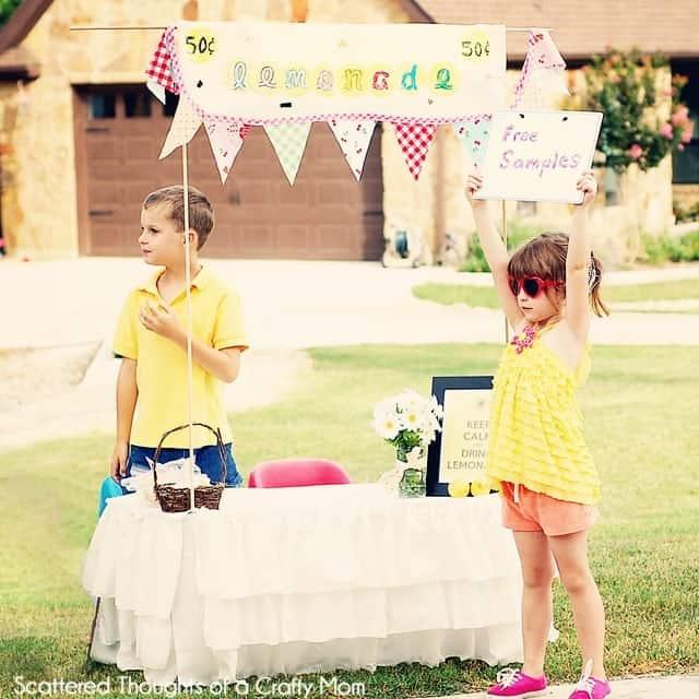 lemonade stand and free printables