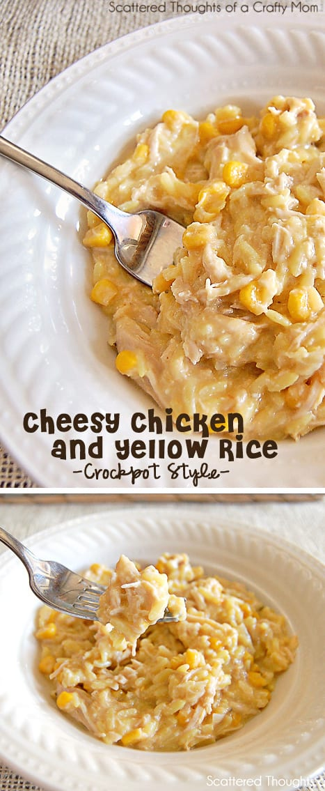 crock pot Cheesy Chicken and Yellow Rice