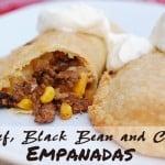 Beef, Black Bean and Corn Empanadas