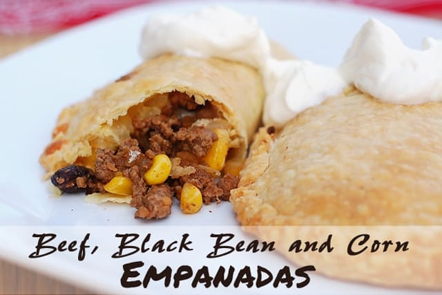 Baked Beef, Black Bean and Corn Empanadas