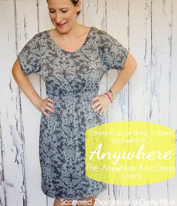 Go Anywhere Dress Tutorial (how to sew an easy knit dress)