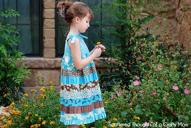 Jelly Roll Strip Work Dress ( what to do with leftover jelly rolls)