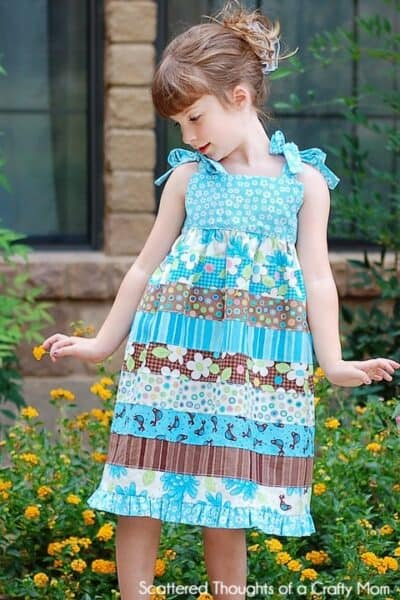 Jelly Roll Stripwork Dress