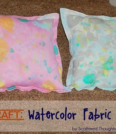 Kid Craft: DIY Watercolor Fabric Pillows