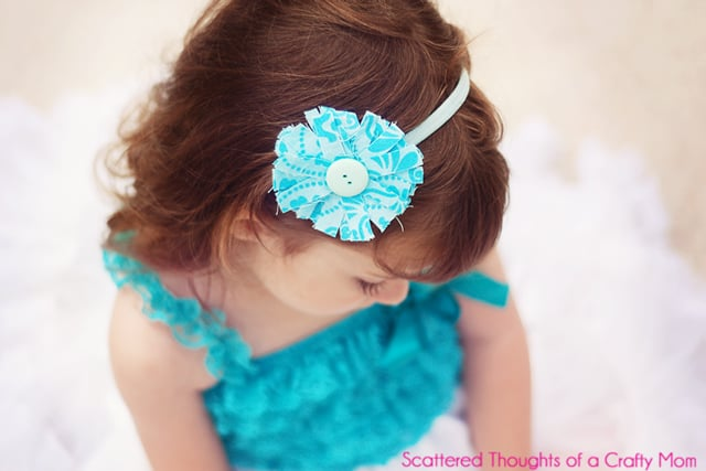 Ways to use fabric scraps, Scrap Busting Fabric Flower