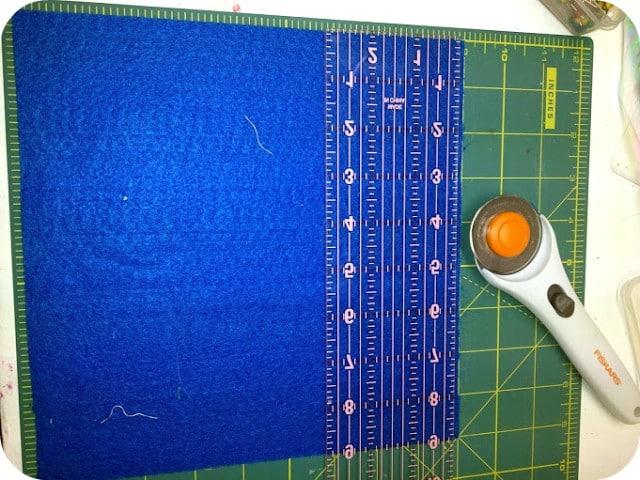 cutting surface with eco-fi felt