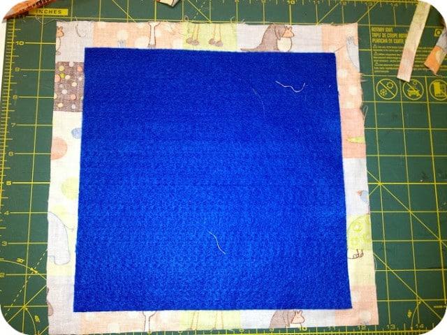 felt with fabric square