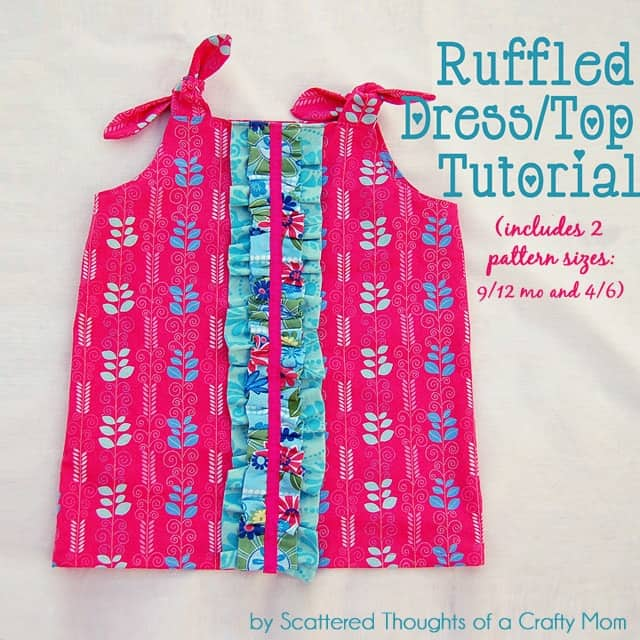 Ruffled dress tutorial