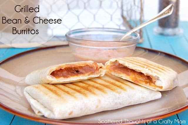 Grilled Bean and Cheese Burritos