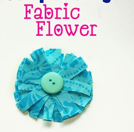 Scrap Busting Fabric Flower