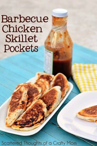 Barbecue Chicken Skillet Pockets
