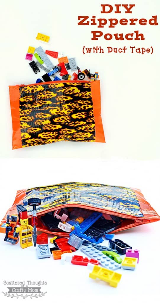 See how to make this Duck Tape zipper pouch with no sewing!