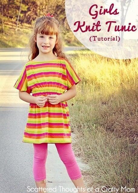Girls Knit Tunic Top Tutorial (aka The Rainbow Sherbet Top)