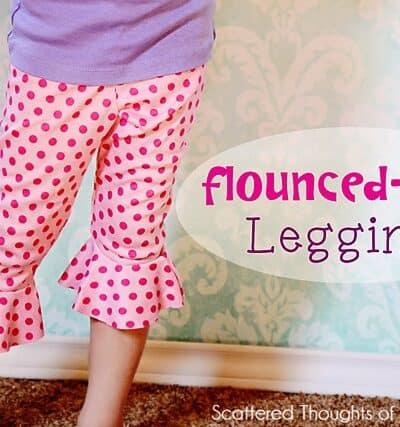 Flounce Bottom Leggings Tutorial w/ free pattern
