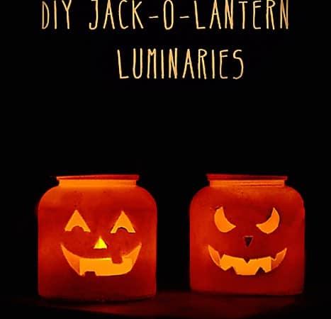 Easy Jack-O-Lantern Luminaries