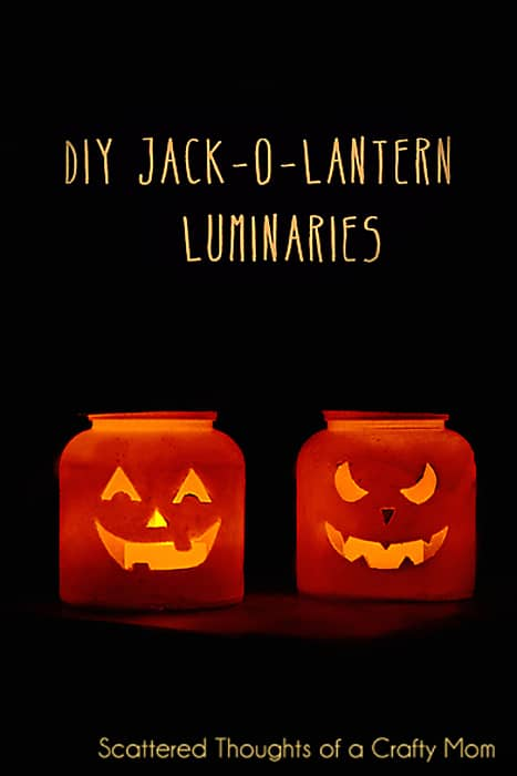 Easy Jack-O-Lantern Luminaries