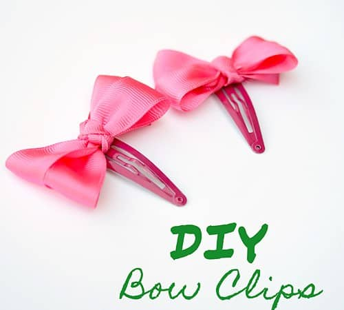 DIY Bow Clips