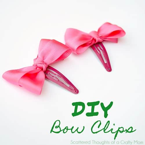 Diy Bow Clips Scattered Thoughts Of A Crafty Mom By Jamie