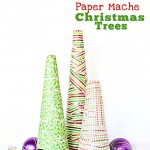 Kid Craft: Paper Mache Christmas Trees