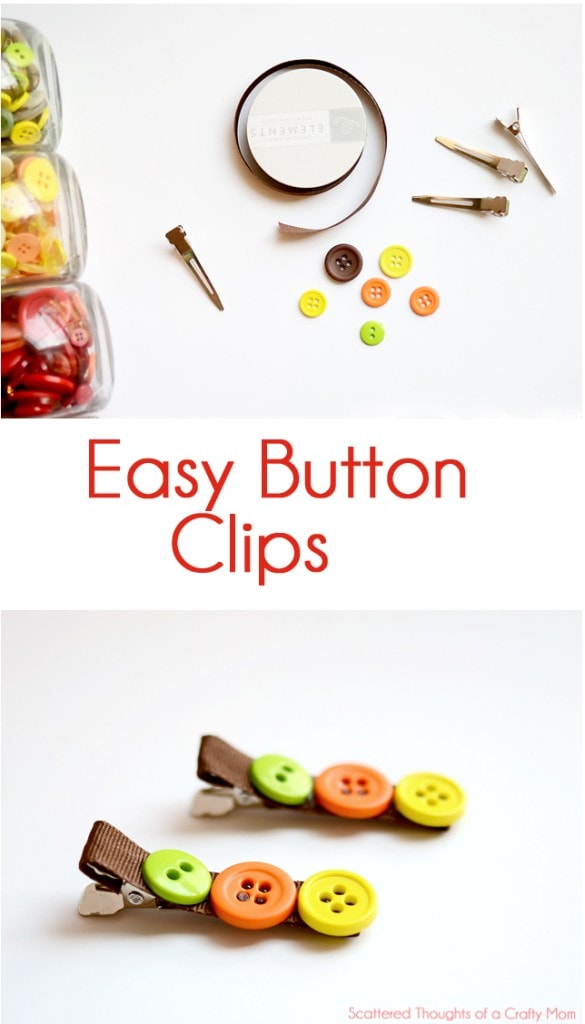 Super easy DIY button clips- Make these in just a few minutes!
