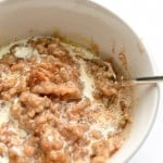 Overnight Apple Pie Oatmeal Recipe, using Steel Cut Oats in the Slow Cooker.
