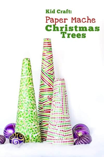 how to make paper mache christmas trees