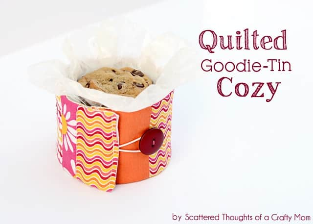 Gift Idea: Quilted Cozy For Holiday Goodie Tin's