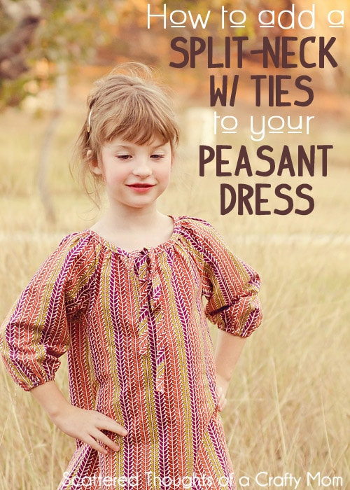 How to Make a Split-Neck Peasant Dress/Top