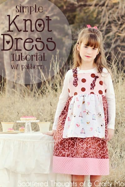 Simple Knot Dress Pattern and tutorial (free bodice pattern, sizes 2 to 6)