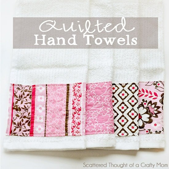 Free Motion Quilting - Embellished Towels