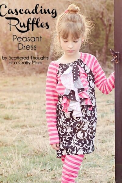 Cascading Ruffles Peasant Dress