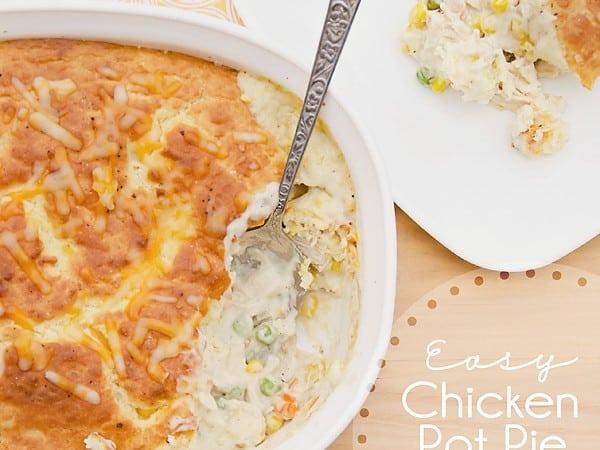 Chicken Pot Pie Lightened Up