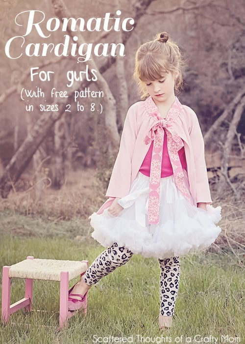 Romantic Cardigan Tutorial and Pattern for Girls