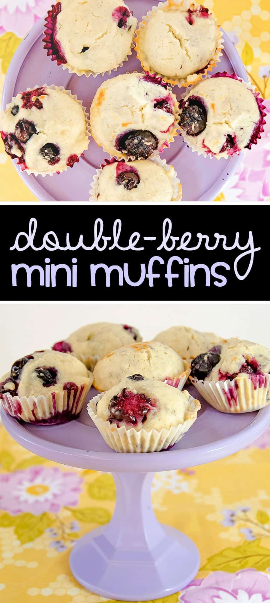 Double Berry Mini Muffin Recipe