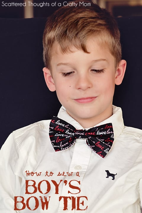 How to make a boy's bow tie- with a machine or hand sewing.