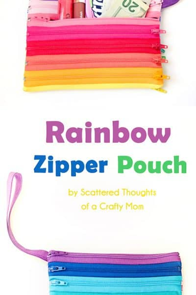 Rainbow Zipper Pouch Tutorial