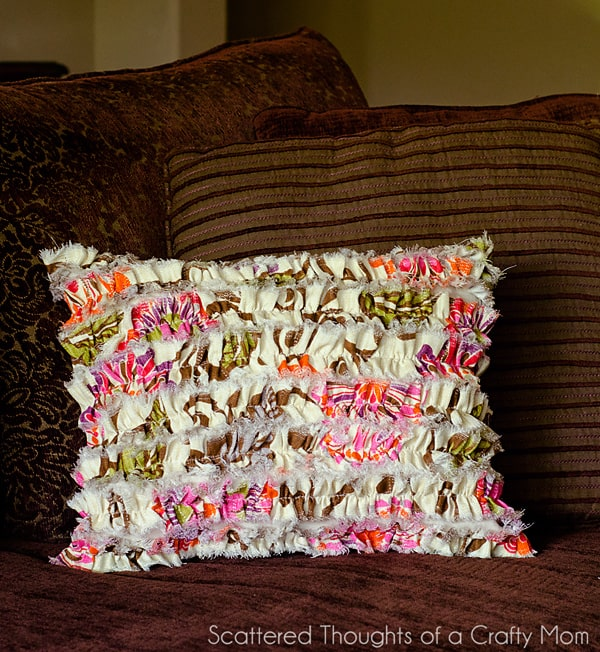 Shabby Chic Ruffled Pillow