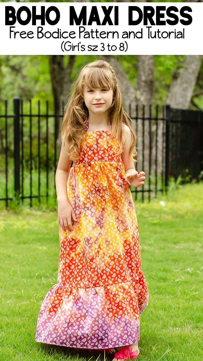 girls maxi dress pattern