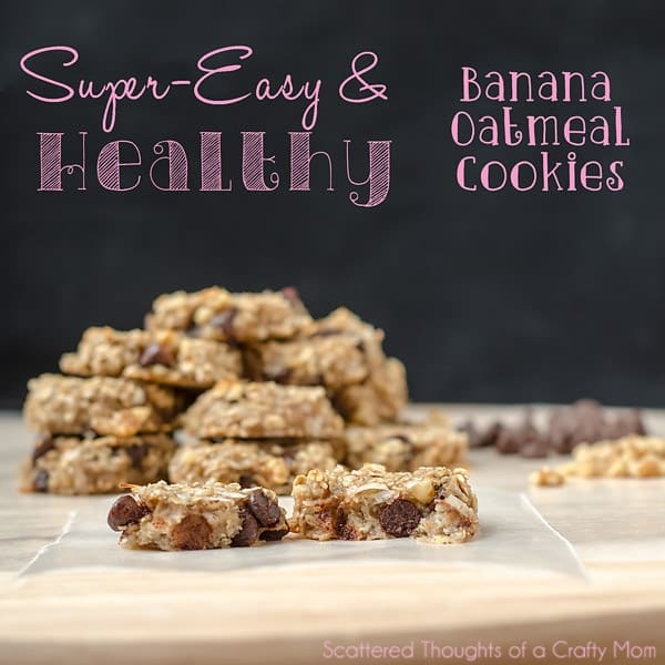 Healthy Banana Oatmeal Cookie