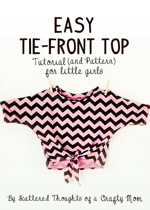 Dolman-Style Tie front top
