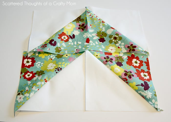 easiest way to make a chevron quilt pattern