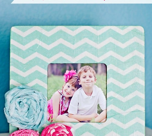 Tissue Paper Picture Frame