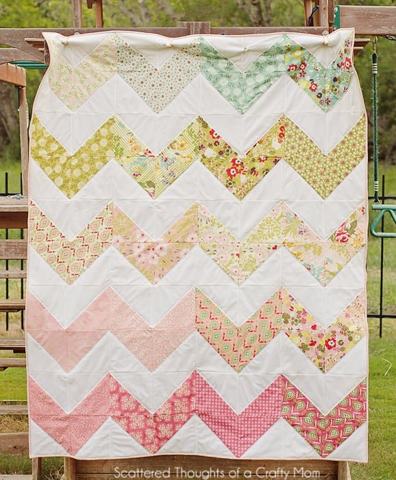 Chevron quilt made w/ Hello Luscious from Basic Grey