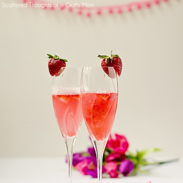Strawberry Spritzer for Mother's Day