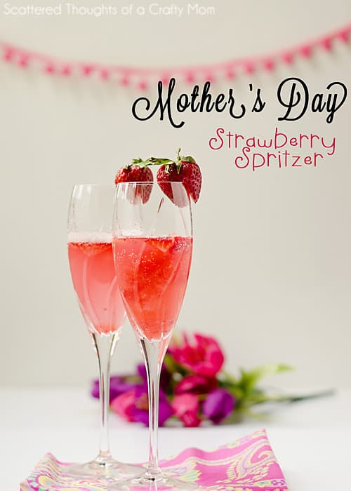 Strawberry Spritzer for Mother's Day (Using 100% natural #FreshNFruti frozen fruit bars)