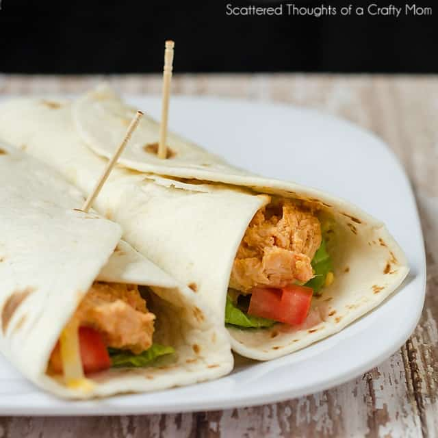 easy buffalo chicken wraps recipe
