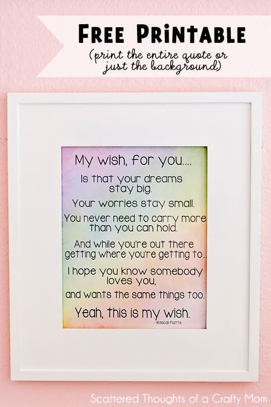 Free Art Printable…  My Wish