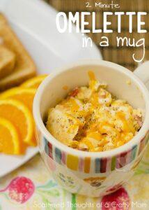 Great Breakfast idea! 2 Minute Omelette in a Mug.