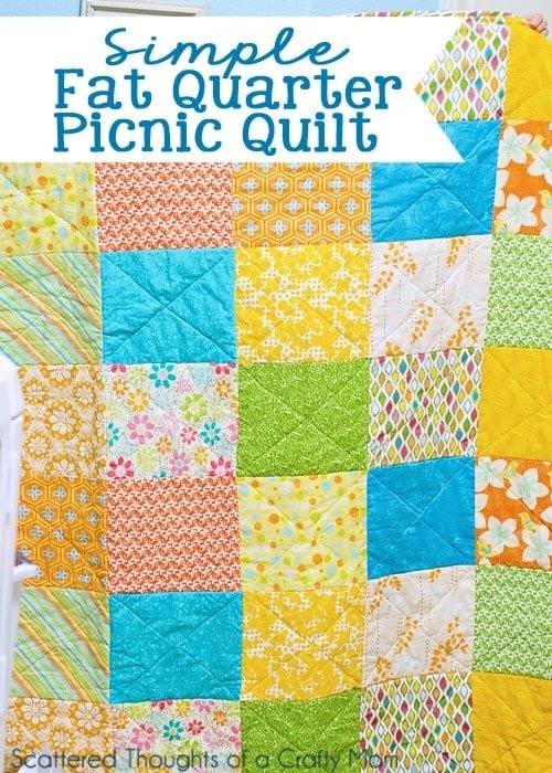 Super simple fat quarter picnic quilt.