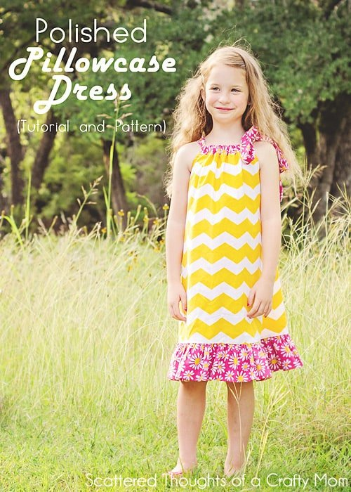 How to sew a pillowcase dress - with different options and a free printable pattern.